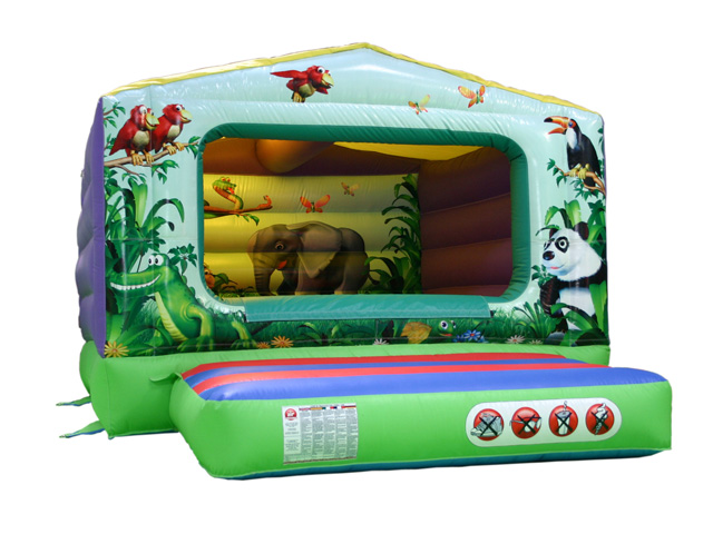 Jungle Box Bouncer Size: L4.3 W3.3 H 2.3; suitable for children of around 2-6 years