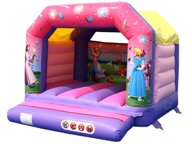 Princess Bouncy Castle Size: L 3.8m W 3.8m H 2.9m; suitable for children of around 4-16 years
